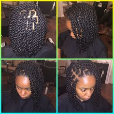 Marley twist bob with invisible root done by Kryssy ! Email thekryssyhair@yahoo.com for pricing, info, & appts!  Follow me on ig @kryssyville