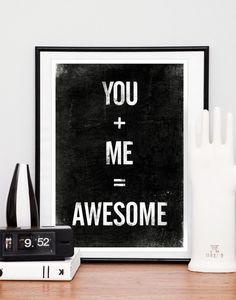 Zwart-wit & typografie posters