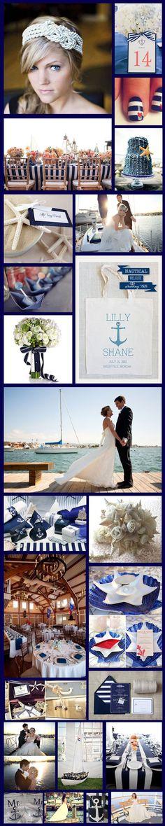 Un ambiente playero en combinación con dos grandes colores es lo que se respira en esta boda