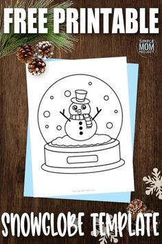 Snow globes are a great way to capture winter. Click to download the free cut out snow globe template and turn this animated snow globe template into a fun school worksheet for a crafty morning! Snow Globe Crafts, Diy Snow Globe, Snow Globes, Globe Ornament, Ornament Crafts, Globe Outline, Globe Drawing, Snowman Coloring Pages, Free Printable Coloring Sheets