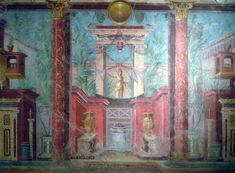 Example of Second Pompeian Style painting, cubiculum (bedroom), Villa of P. Fannius Synistor at Boscoreale, 50–40 B.C.E., fresco