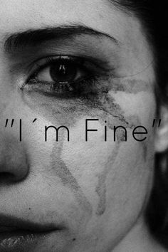 I'm fine just coz u can't see it doesn't mean it's not there xx