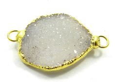Magicalcollection Amazing Druzy Gemstone Fine 18k Gold Electroplated Connector #MagicalCollection