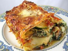 Vegetarian Lasagna (friends added shrimp and crab among the zucchini layer and said it was fantastic)