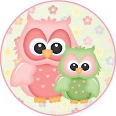 MAKE YOUR OWN CUTE DECORATION - Flower Owls #4