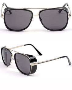 The best Steampunk sunglasses. Awesome style with exceptional quality, performance, and comfort. Complete your look with these amazing Steampunk sunglasses. Tony Stark, Men Sunglasses Fashion, Steampunk Sunglasses, Loafer Sneakers, Mens Glasses, Glasses Style, Sunglass Frames, Oakley Sunglasses, Fashion Accessories