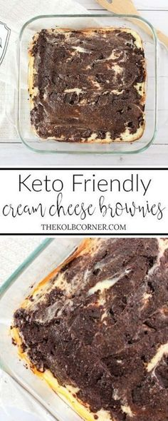Keto Cream Cheese Brownies- Good but dark/ Bitter; add a little more sweetener or cream to the brownie batter.