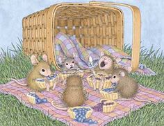 "Mudpie, Maxwell, Amanda, Muzzy and Monica from House-Mouse Designs featured on the The Daily Squeek® for August 6th, 2013. Click on the image to see it on a bunch of really ""Mice"" products."
