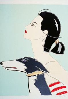 Fashion Illustration by David Croland by FIT Library Department of Special Collections, via Flickr