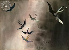 Millard Sheets - Frigate Birds, Cabo San Lucas, 1975