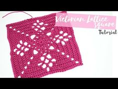 CROCHET: Victorian Lattice Square tutorial | Bella Coco - YouTube