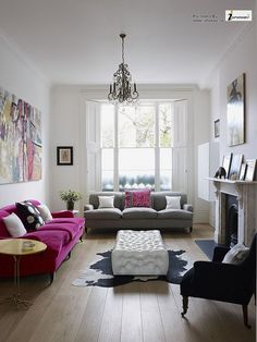 A bright and modern living room Anthropologie Style