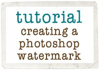 Tutorial for creating a Photoshop Watermark
