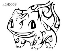 #001: Tribal Bulbasaur (Remake) by blackbutterfly006.deviantart.com on @deviantART