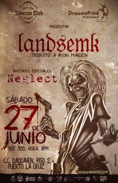 """Cresta Metálica Producciones » Tiburón Club presenta: """"Landsemk: Tributo a Iron Maiden"""" (Puerto La Cruz) // 27 Junio 2015"""