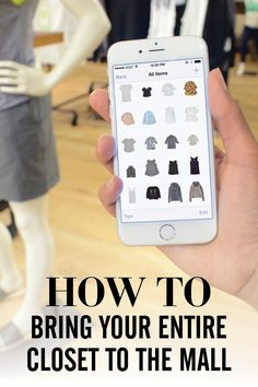 How to use Stylebook closet app to see all your real clothes while you're shopping at the mall!  This can help you match new purchases to what you have or help you avoid purchasing items similar to something you already own.