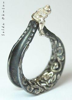 Single figure ring by zelda okutan