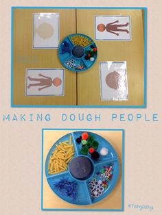 Making dough faces and people. Printables from Picklebums