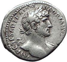 HADRIAN 119AD Silver Authentic Genuine Ancient Roman Coin PIETAS i65391