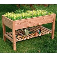 raised bed table making for Mom so she wont have to bend over to