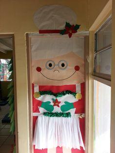 This is the Mrs. Claus door we won!!! | Door Decorating ...