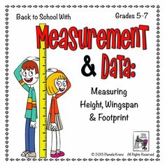 Try this fun activity for back to school- collecting data from students' height, wingspan and footprint. Check back again at the end of the year... My, how they've grown! Freebie! Grades 5-7