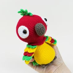 Meet Pedro the Parrot! This crochet toy is something that you can definitely catch and keep to yourself. Make your own amigurumi parrot using our free crochet pattern!