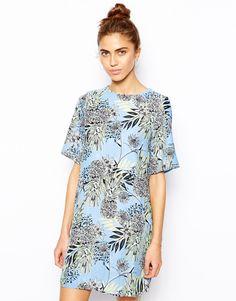 River Island Pineapple Print T-shirt Dress