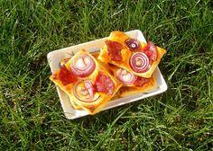 Tarte fine au Chorizo et à l'oignon rouge