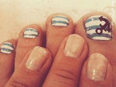 Anchor themed nails!