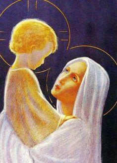 Images pieuses (La Vierge et l'Enfant)