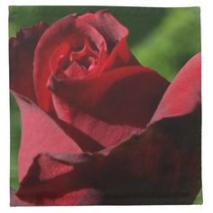 Elegant Red Velvet Rose Cloth Napkins - $44.95 per set of four - Elegant Red Velvet Rose Cloth Napkins - by RGebbiePhoto @ zazzle - A beautiful rosebud, deep velvet red in color, in a spring garden. Strong red and green theme, this elegant rose adds a touch of class to any occasion. Elegance and Romance, a lover's flower. A definite must for red rose lovers!