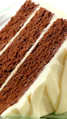 Dutch Mocha Chocolate Cake  with Unforgettable White Chocolate Frosting ~ Cocoa powder, coffee and sour cream combine to make this moist, dark three-layer cake.