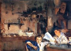 Venetian Interior - John Singer Sargent - Completion Date: c.1903