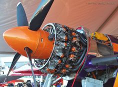 """Wright R-3350 Double-Row Radial-Engine mounted on Lewis Air Legends Racing Team's world-famous super-modified Grumman F8F-2 Bearcat UNL-Class multi-Gold Champion #77-""""Rare Bear"""" (N777L)."""