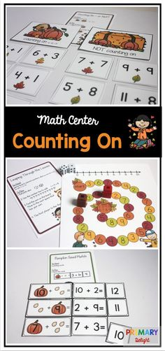 Counting on activities for first grade and kindergarten students.