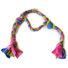 Green, Pink & Blue Tug Toy for Dogs