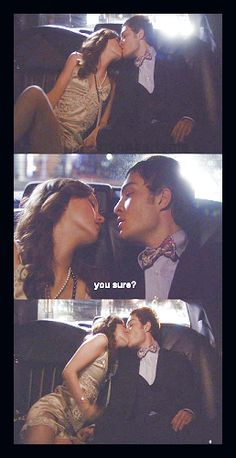 Blair & Chuck in the limo...