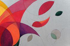 """Vida Florescendo"" (Blossoming Life)  Artist Quim Alcantara  Acrylic on raw striped cotton, 2011"