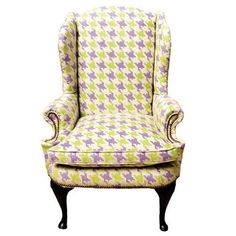 Houndstooth Wing Chairs from Gardenhouse