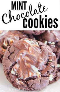 Try these soft and chewy mint chocolate cookies. Made with a cake mix, they're SO quick and easy to mix up.