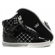 57d1b3658221e Buy Supra Skytop Bright Black White Men s Shoes Lastest from Reliable Supra  Skytop Bright Black White Men s Shoes Lastest suppliers.