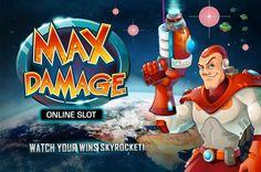 Max Damage Online Slot Game Arcade Games, Slot, Fictional Characters, Fantasy Characters