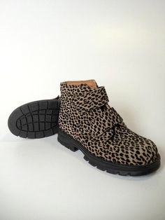 Girl Muck Collection German Leopard Print Boots Shoe Size 31 13 13.5 LN
