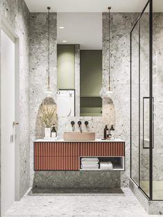 34 Beautiful Bathroom Color Scheme Ideas for Small & Master Bathroom – housedecor Bad Inspiration, Bathroom Inspiration, Modern Bathroom Design, Bathroom Interior Design, Minimal Bathroom, Bathroom Designs, Bathroom Ideas, Casa Top, Casa Milano