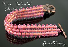 I made this beaded bracelet back in 2015, wrote instructions  and now decided to publish it on my blog as Free Beading Tutorial. This beading project is perfectly suited for an advanced beginner or intermediate beader. The level of difficulty is quite low and no special beading skills are needed.
