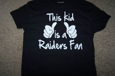 Oakland Raiders This Kid Is A Raiders Fan Youth by artskemez