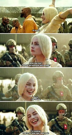 Harley Quinn in Suicide Squad. Snapshots from the trailer