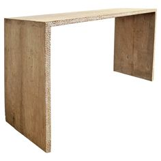 Weathered Teak Console Table