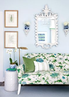 Incredible fabric choice at the Green Hills Georgian by Sarah Bartholomew